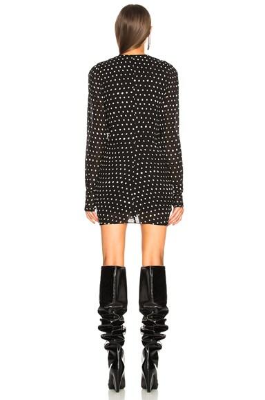 Polka Dot Ruffle Front Dress