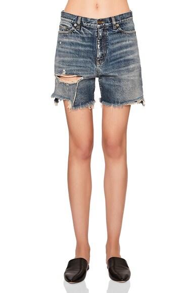 Baggy Distressed Denim Shorts