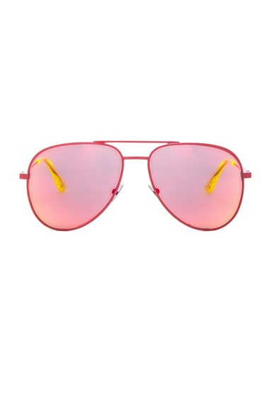 Saint Laurent Classic 11 Aviators in Red Mirror