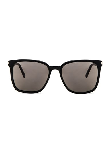Saint Laurent SL 93 Sunglasses in Black & Smoke