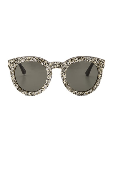 Saint Laurent SL 102 Sunglasses in Silver & Gold Glitter