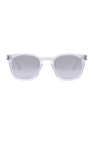 Saint Laurent SL 28 Sunglasses in Crystal & Silver Mirror