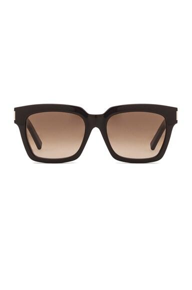 Saint Laurent Bold 1S Sunglasses in Black