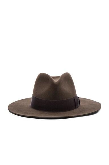 Saint Laurent Hat in Taupe
