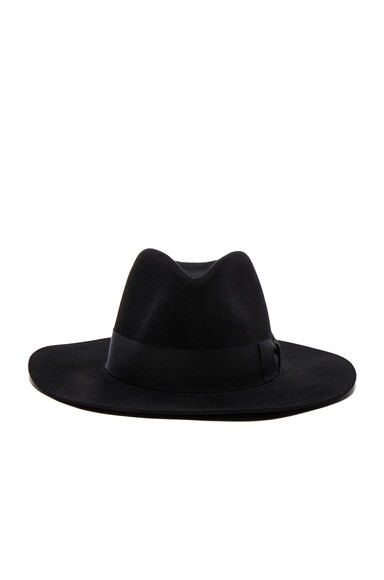 Saint Laurent Hat in Noir