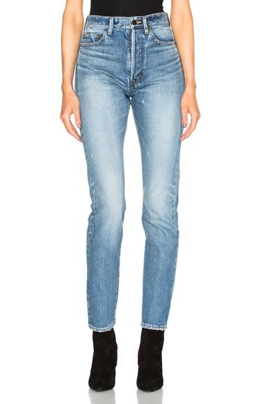 Saint Laurent 90s Pocket Jeans in Medium Blue