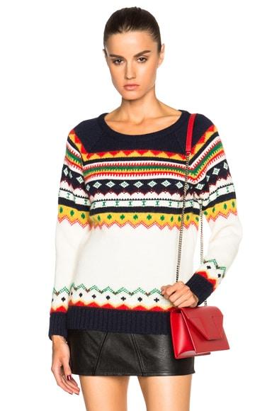 Saint Laurent Jacquard Fair Isle Sweater in Multi