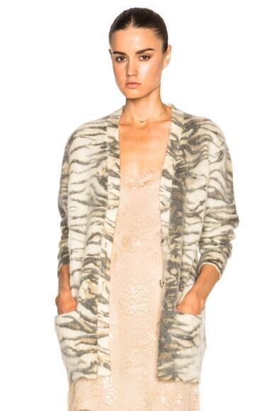 Saint Laurent Oversize Cardigan in Tiger Print