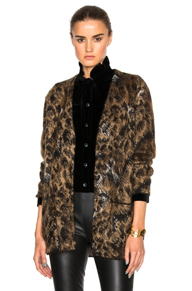 Leopard Mohair Jacquard Cardigan