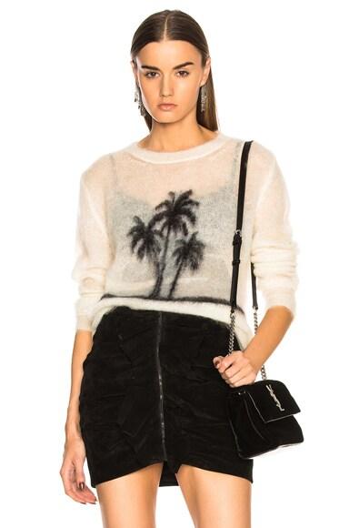 Sunset Print Mohair Sweater