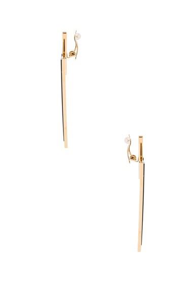 Deco Triangle Clip Earrings