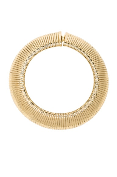 Saint Laurent Oversize Serpent Chain Necklace in Gold
