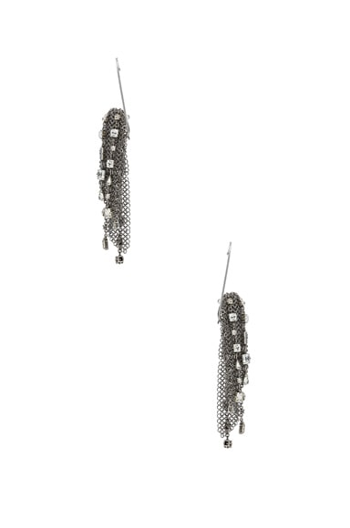Smoking Crystal Cascade Earrings