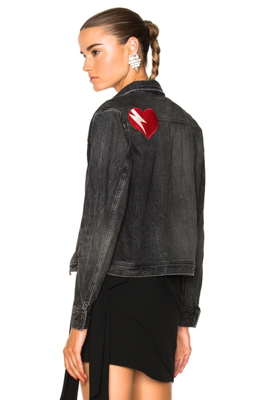 Heart Patch Denim Jacket