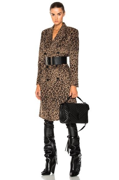 Cashmere Leopard Print Coat Saint Laurent