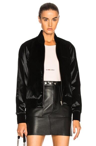 Velvet Teddy Bomber Jacket