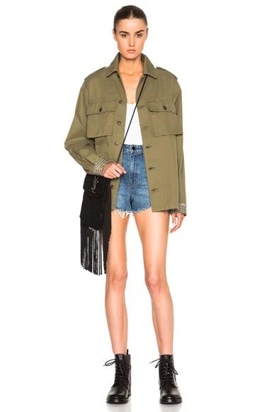 Oversized Military Studded Jacket