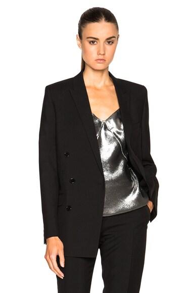 Saint Laurent Oversize Gabardine Blazer in Black
