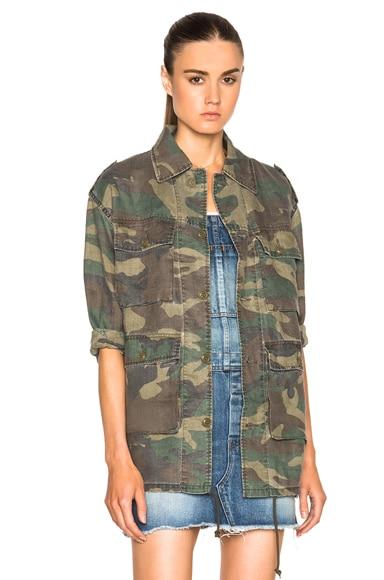 Saint Laurent Hunter Jacket in Vintage Camouflage