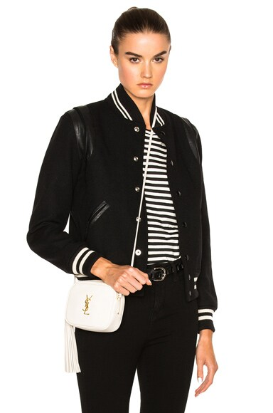 Saint Laurent Classic Teddy Bomber Jacket in Black