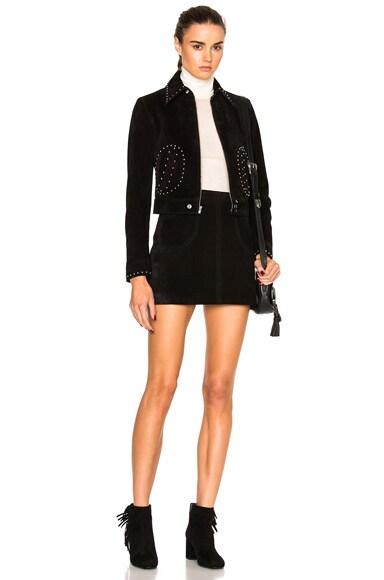 Studded Pocket Suede Jacket