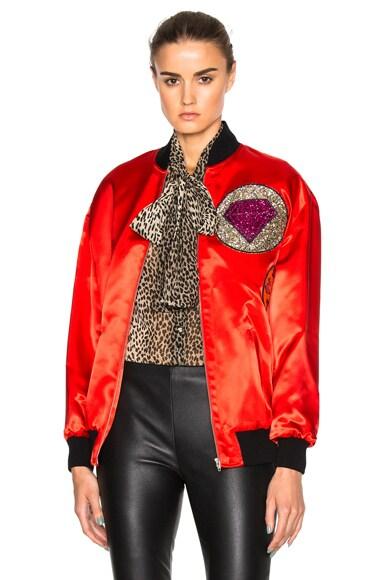 Oversize Multi Patch Teddy Jacket