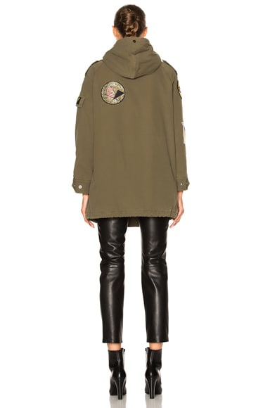Twill Multi Patch Military Parka