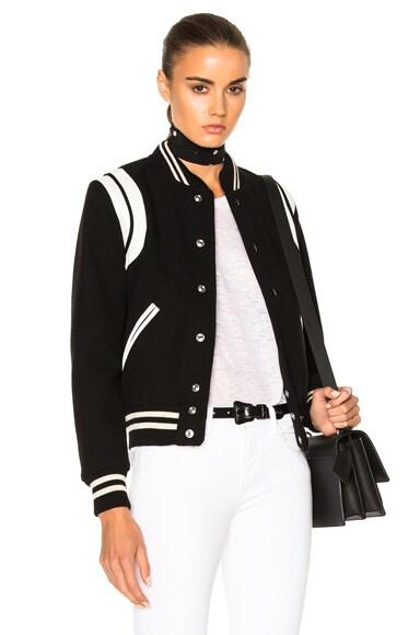 Saint Laurent Teddy Femme in Black & White