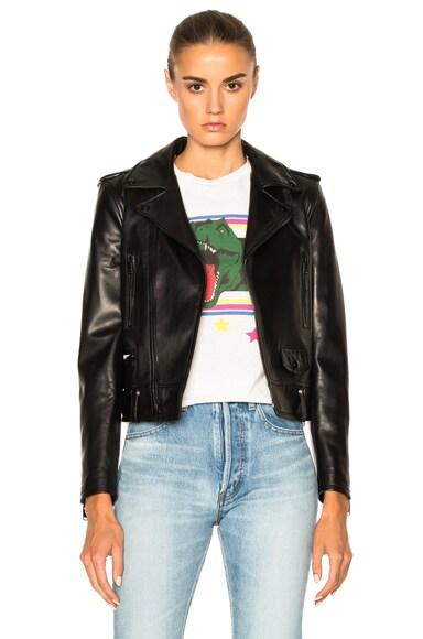 Saint Laurent Motorcycle Jacket in Black/Black