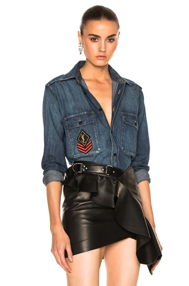 Denim Shirt with Patch