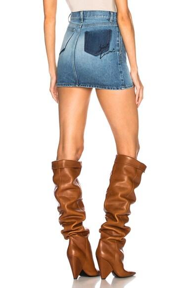 Classic Loulou Denim Mini Skirt
