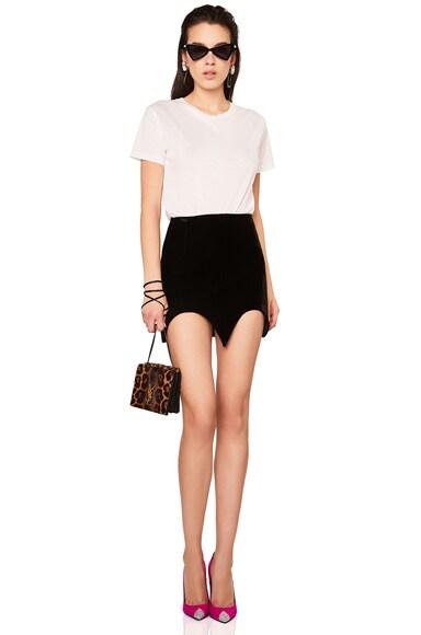 Velvet Bat Hem Skirt