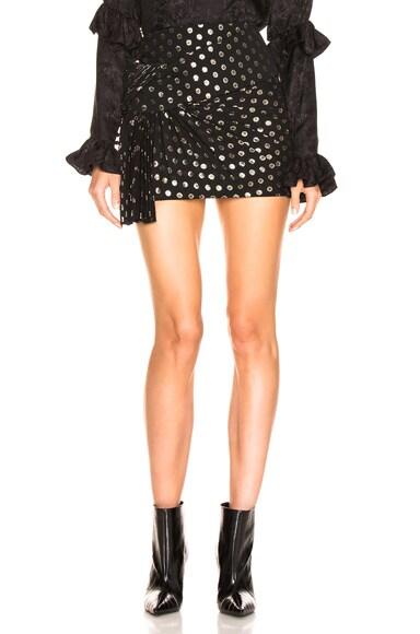Polka Dot Knot Mini Skirt