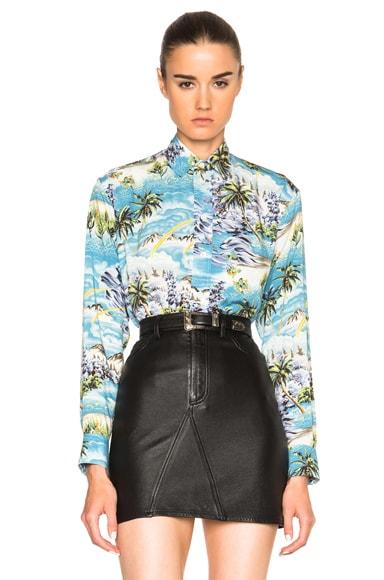 Saint Laurent Hawaiian Shirt in Multi