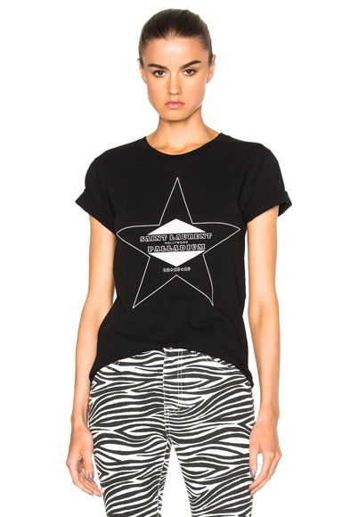 Saint Laurent Palladium Tee in Black & Natural