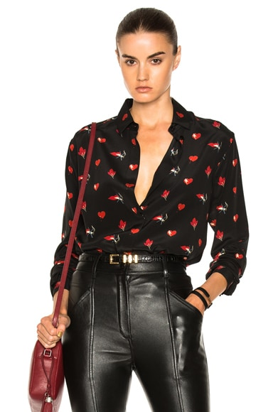 Smoking Large Lip Print Shirt