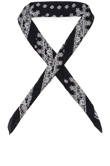 Saint Laurent Bandana Scarf in Black & White