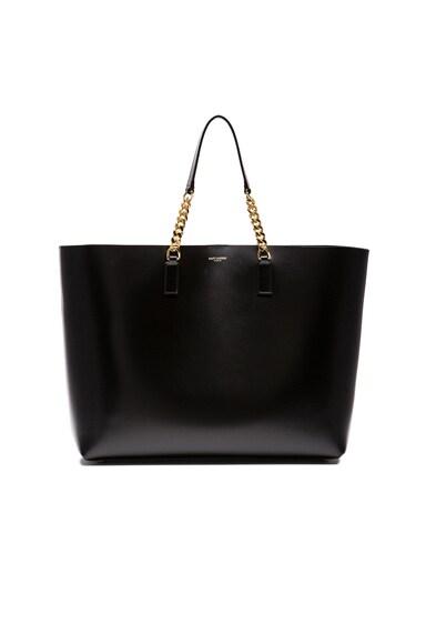 Saint Laurent Monogram Shopping Bag in Black