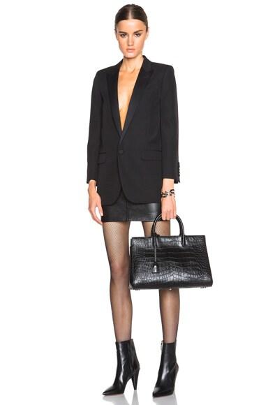 Medium Monogram Croc Embossed Cabas Bag