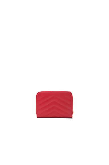 Monogram Compact Zip Around Wallet