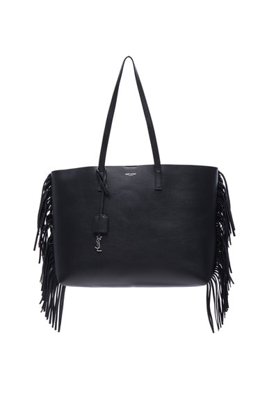 Saint Laurent Large Fringe Shopping Bag in Black