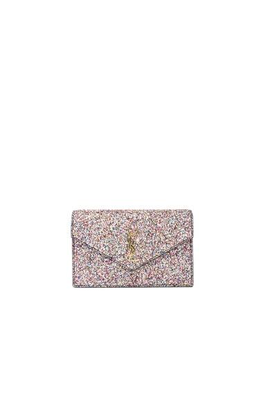 Monogramme Glitter Envelope Chain Wallet