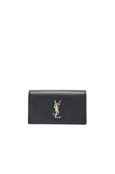Saint Laurent Monogramme Clutch in Black