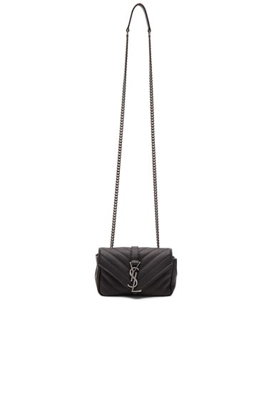 Saint Laurent Baby Monogramme Chain Bag in Black
