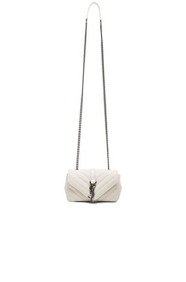 Saint Laurent Baby Monogramme Chain Bag in Porcelain