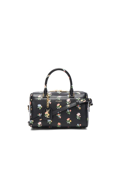 Saint Laurent Baby Grunge Flower Print Duffle Bag in Black & Multi