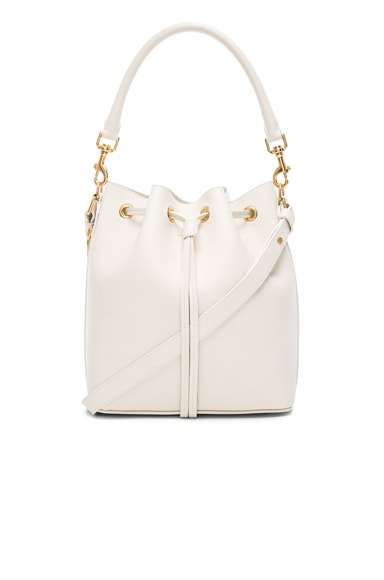 Saint Laurent Medium Emmanuelle Bucket Bag in Porcelain