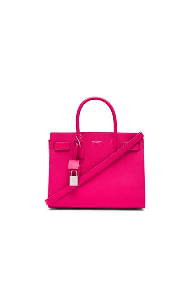 Saint Laurent Baby Sac De Jour in Lipstick Fuchsia