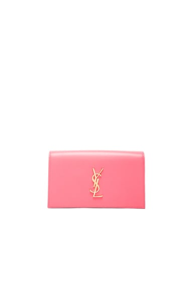 Saint Laurent Monogramme Clutch in Rose Clair