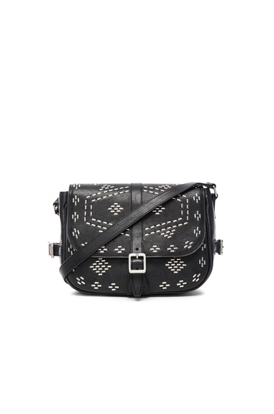 Saint Laurent Besace Inca Stud Bag in Black